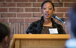 Professor Esther Jones speaking
