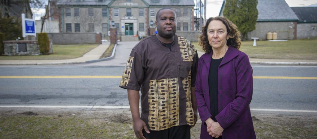 Shelly Tenenbaum and inmate