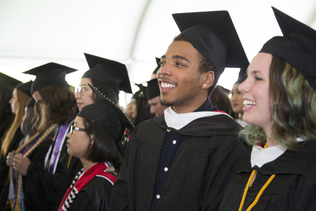 Students at Ccommencement 2018