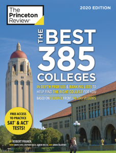 Princeton Review Best 385 Colleges 2020 book cover
