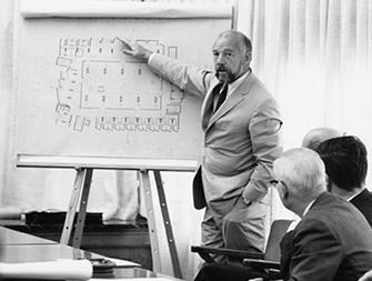 Goddard Library architect John Johansen