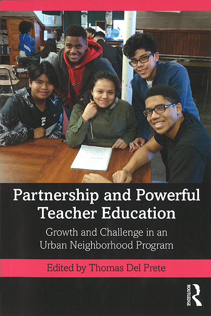 "Book cover of ""Partnership and Powerful Teacher Education"" by Thomas Del Prete"