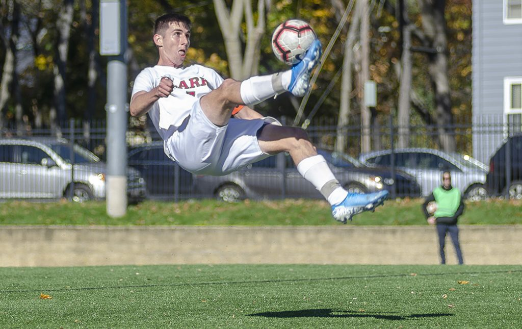 Sean Munroe '20 on the soccer field