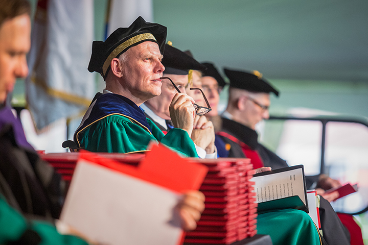 David Angel at Clark University Commencement 2018