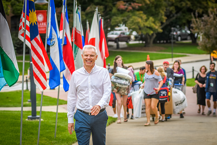 David Angel at Move-In Day