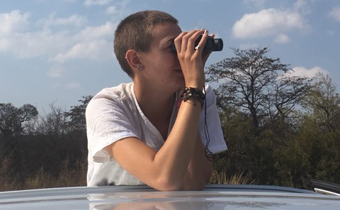 Tobey Chase at work in South Africa