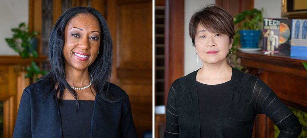 Deans Esther Jones and Betsy Huang